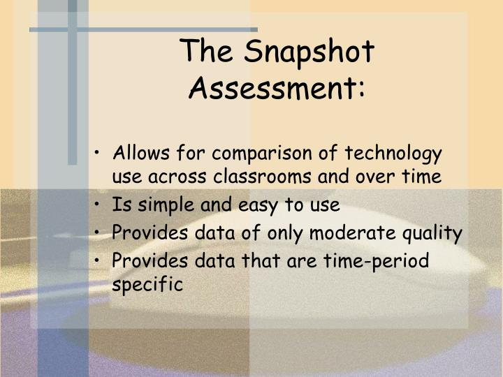 The Snapshot Assessment: