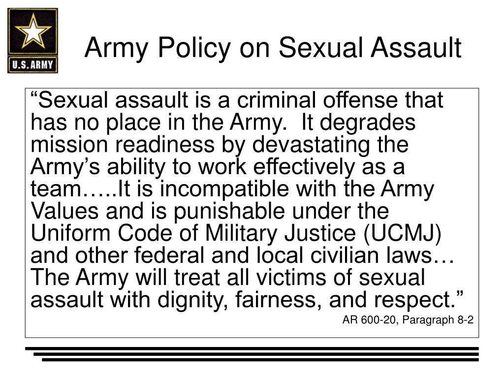 DoD Releases Latest Military Sexual Assault Report U. S.