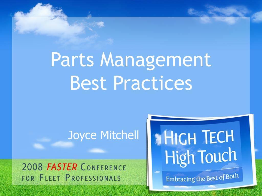 parts management best practices l.