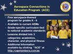 aerospace connections in education program ace