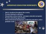 aerospace education workshops