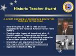historic teacher award