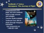 textbook 2 nd edition aerospace the journey of flight