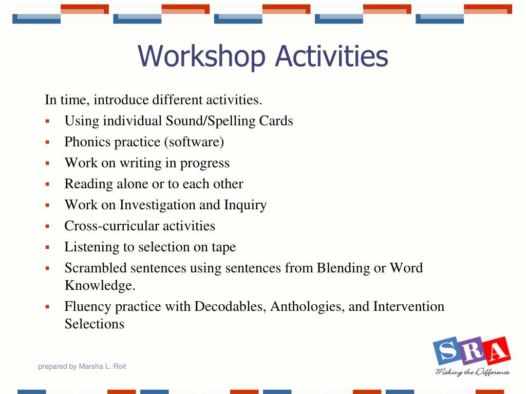 Workshop Activities