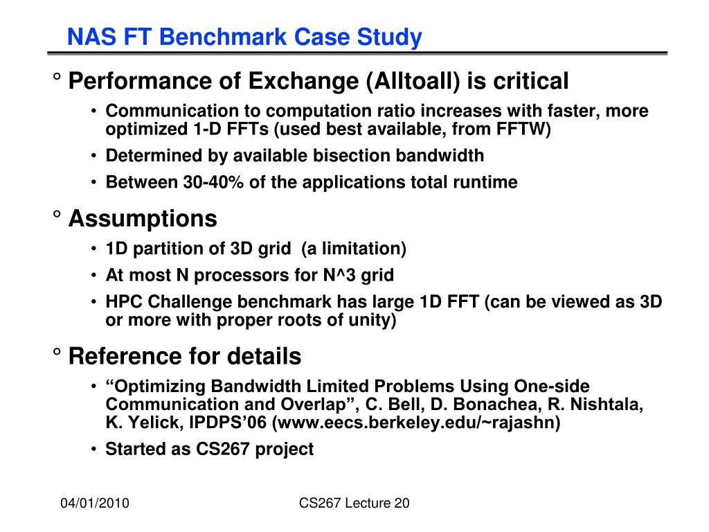 NAS FT Benchmark Case Study