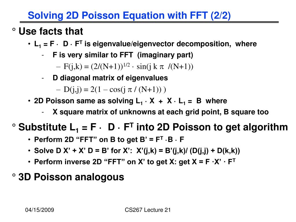Solving 2D Poisson Equation with FFT (2/2)