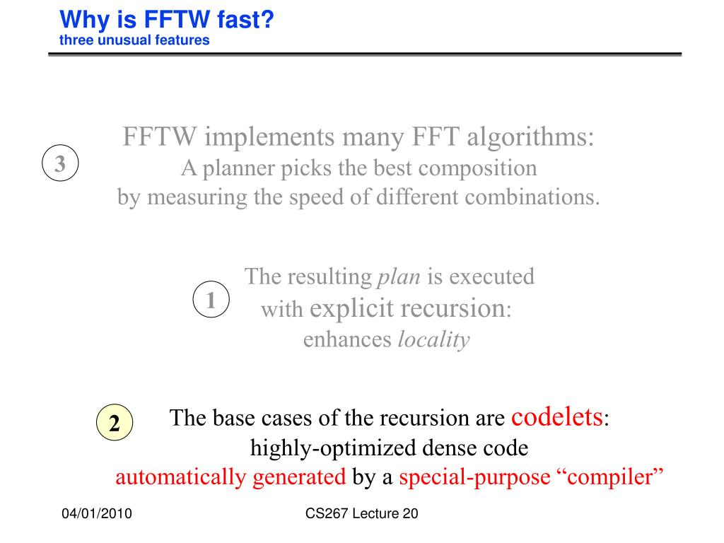 Why is FFTW fast?
