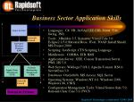 business sector application skills