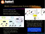 mobile communication systems applications