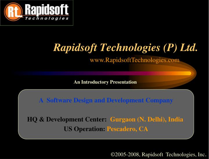 rapidsoft technologies p ltd n.