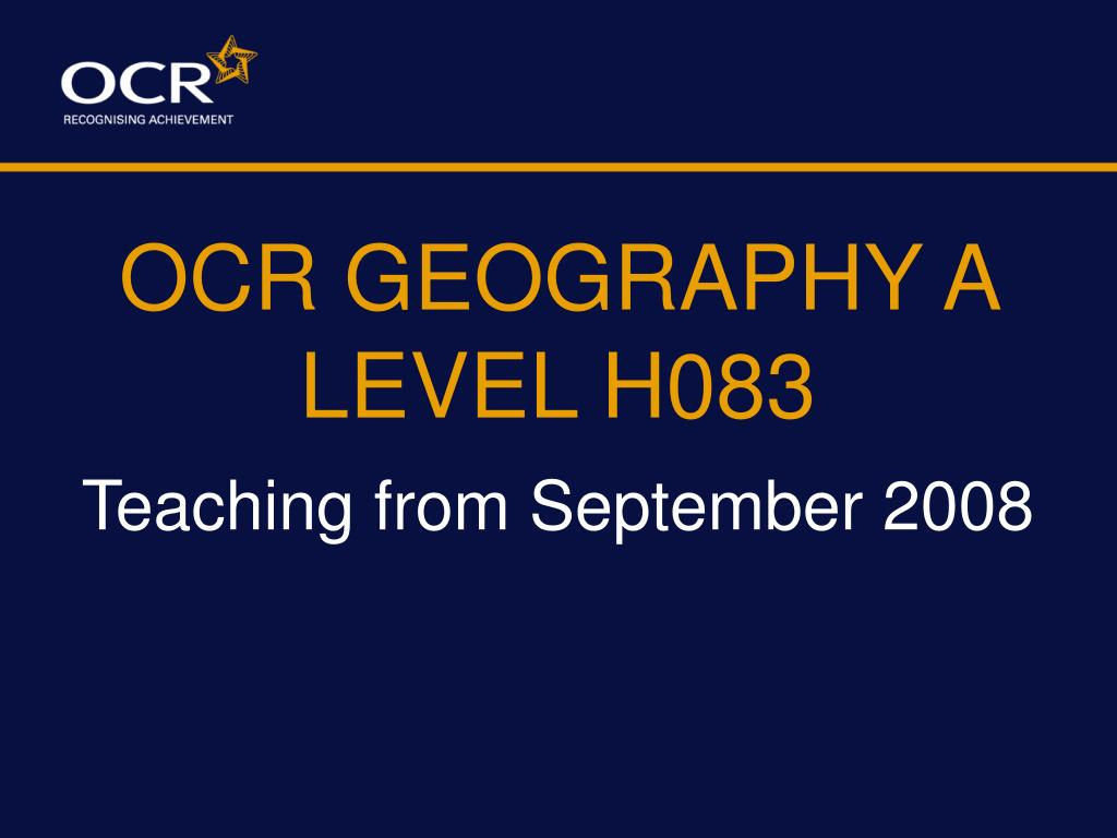 ocr geography a level h083 l.