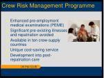 crew risk management programme