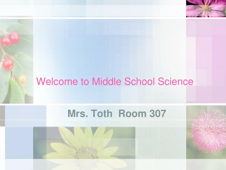 welcome to middle school science n.