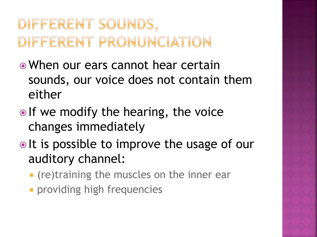 Different sounds,