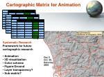 cartographic matrix for animation
