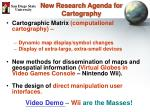 new research agenda for cartography