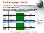 the cartographic matrix