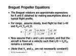 breguet propeller equations