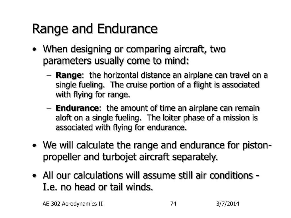 range and endurance l.