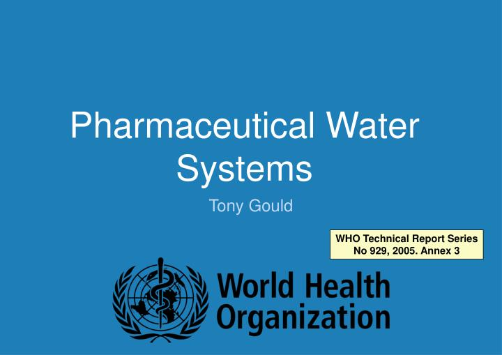 pharmaceutical water systems n.