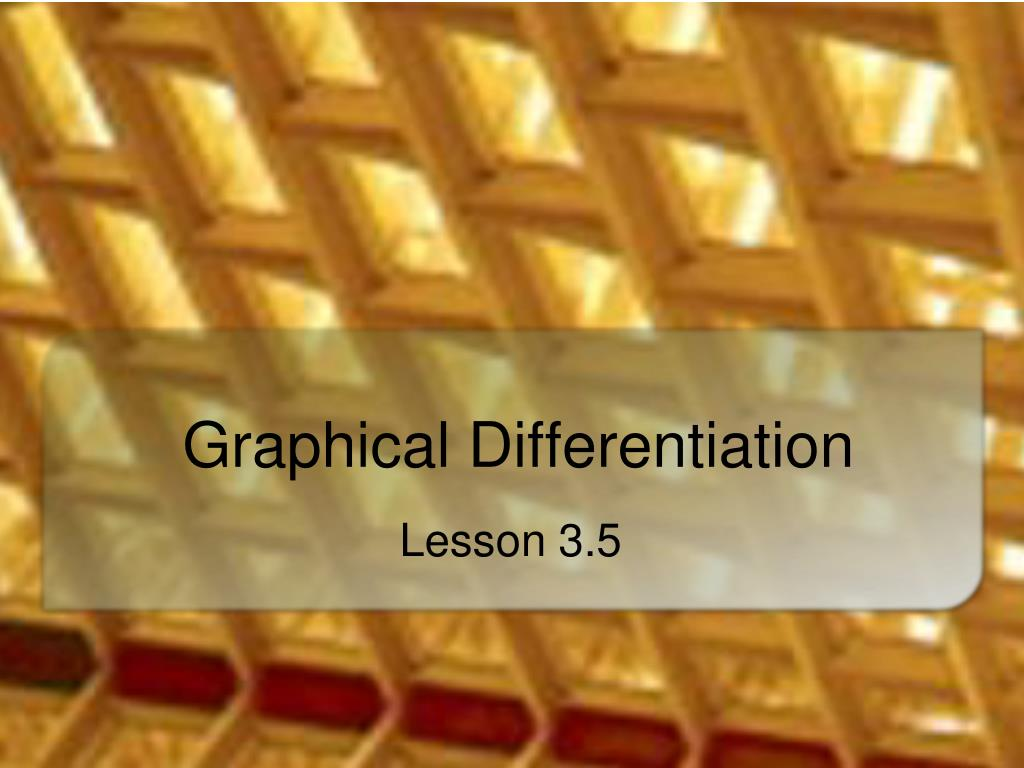 graphical differentiation l.