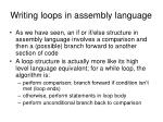 writing loops in assembly language