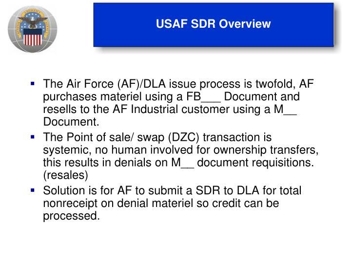 USAF SDR Overview