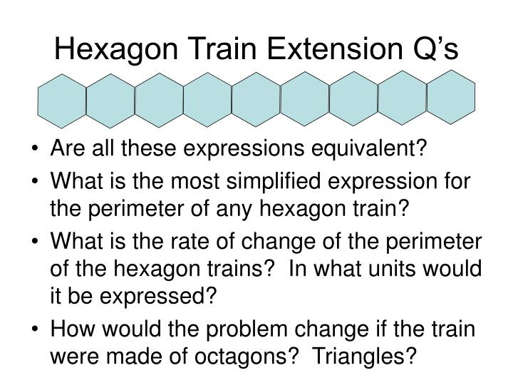 Hexagon Train Extension Q's