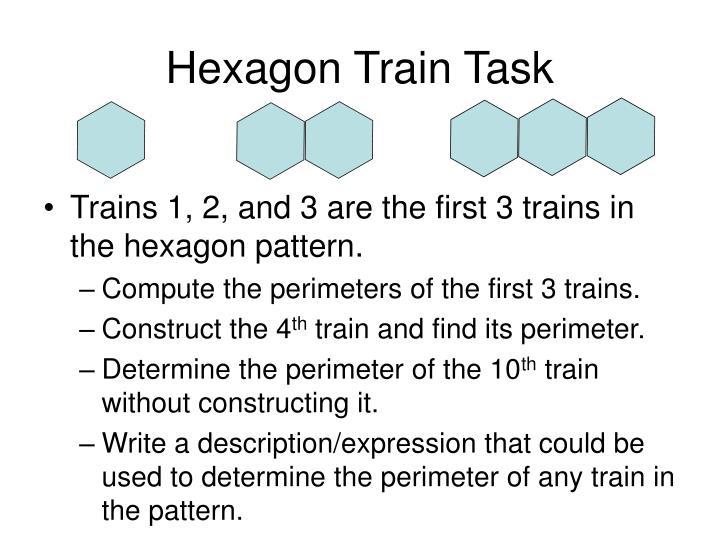 Hexagon train task