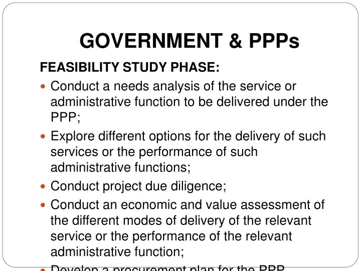 GOVERNMENT & PPPs