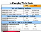 a changing world bank