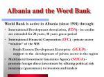 albania and the word bank