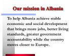 our mission in albania