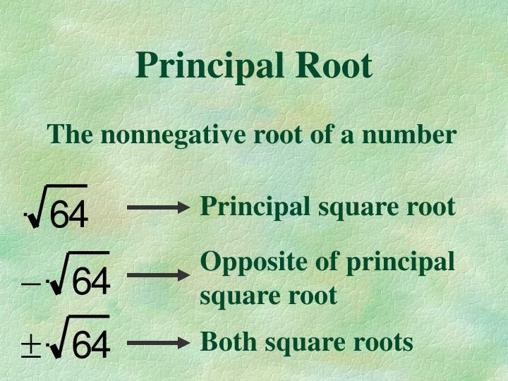 Principal square root