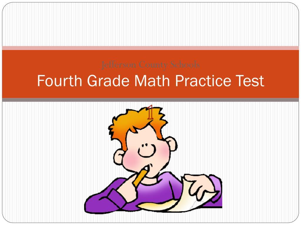 fourth grade math practice test l.