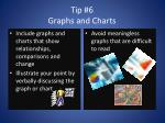 tip 6 graphs and charts