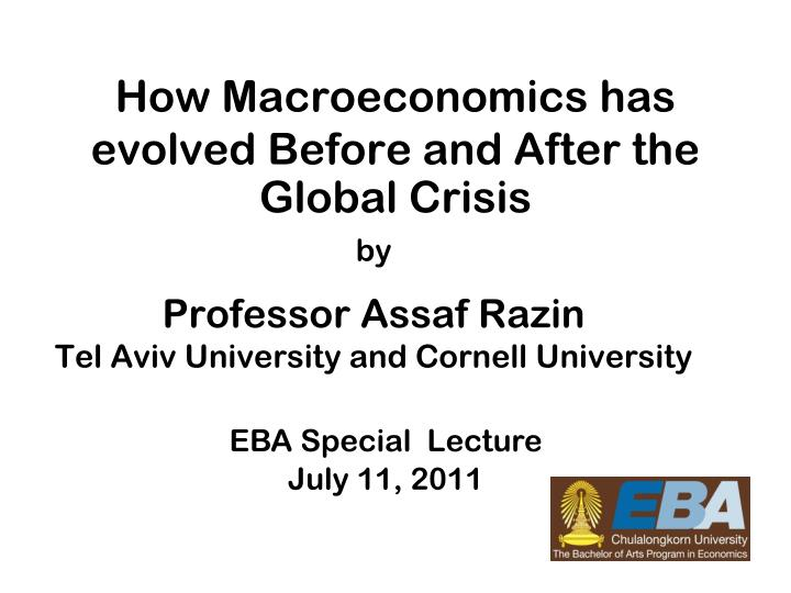 how macroeconomics has evolved before and after the global crisis n.