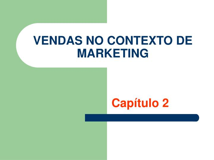 vendas no contexto de marketing n.