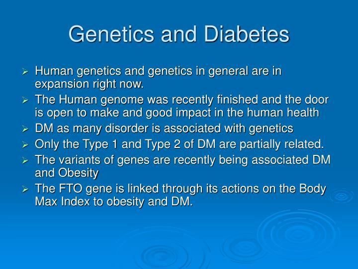 Genetics and Diabetes