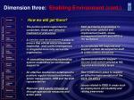 dimension three enabling environment cont
