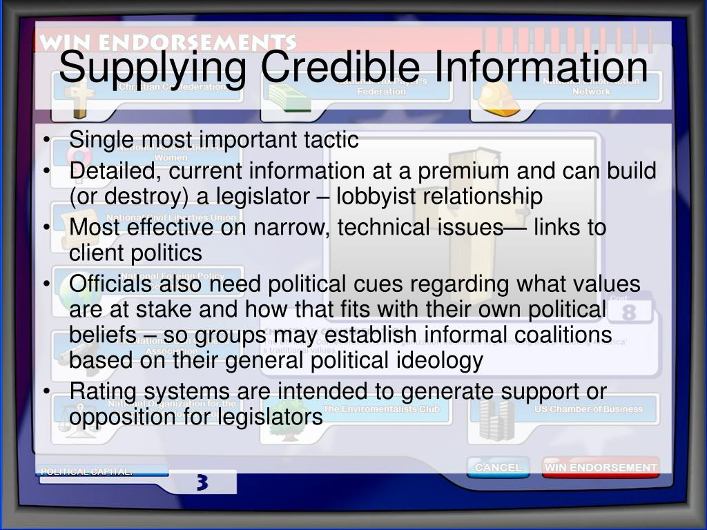 Supplying Credible Information