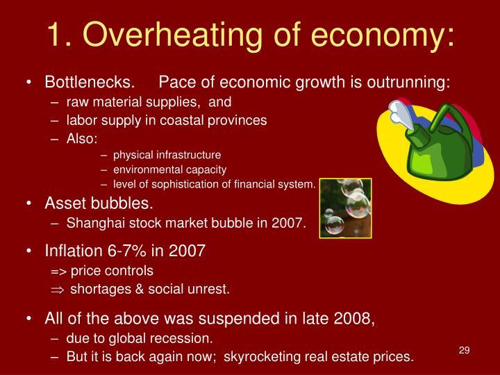 1. Overheating of economy: