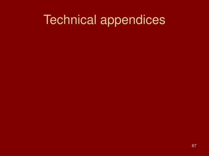 Technical appendices
