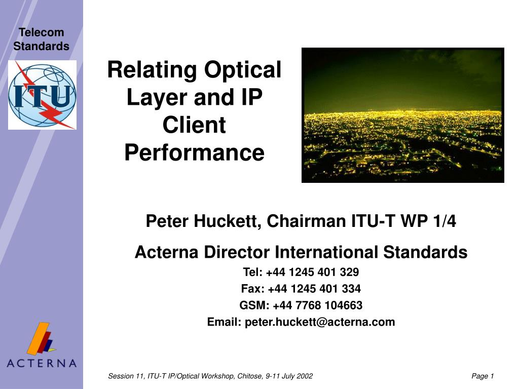 relating optical layer and ip client performance l.