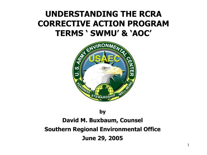 understanding the rcra corrective action program terms swmu aoc n.