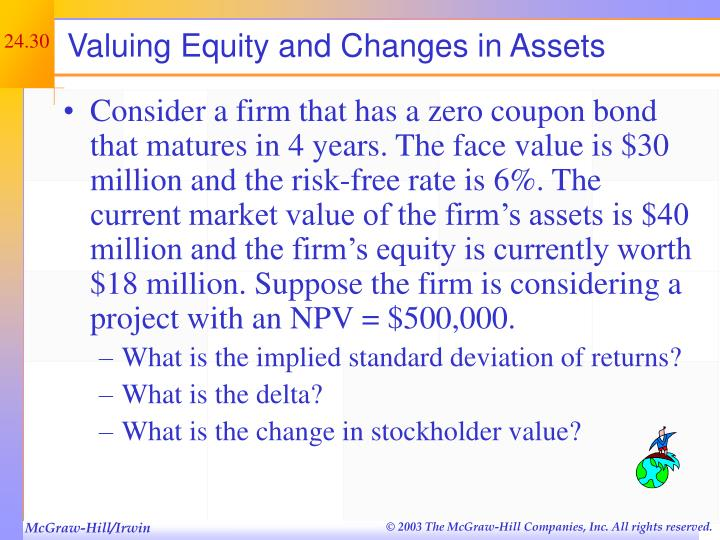Valuing Equity and Changes in Assets