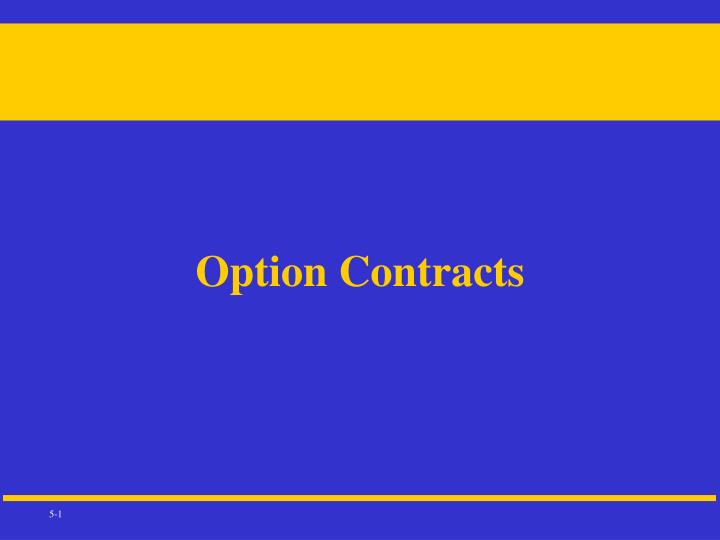 option contracts n.