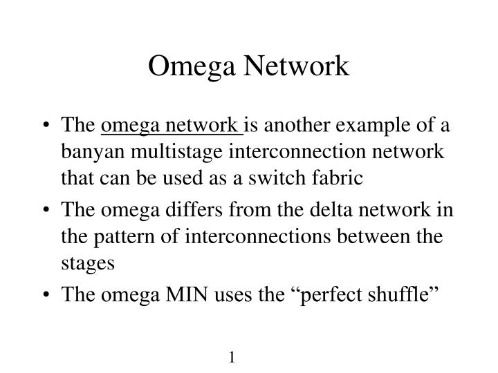 PPT - Omega Network PowerPoint Presentation - ID:465578