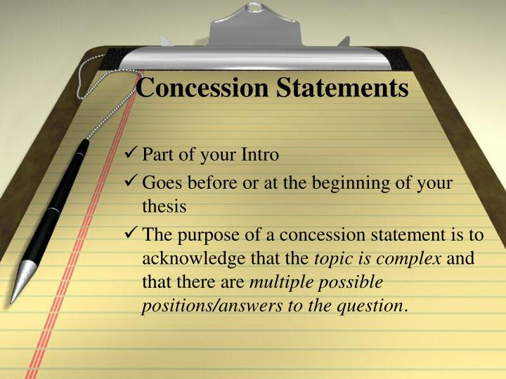 concession statement research paper The changes are effective from concession statement research paper 1 july 2016, and will apply from your 2017 tax.