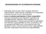 disadvantages of co operative housing1